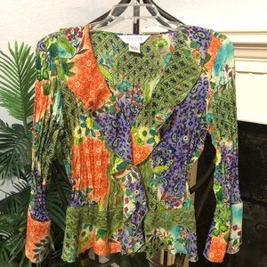 Allison Taylor Blouse Sz M